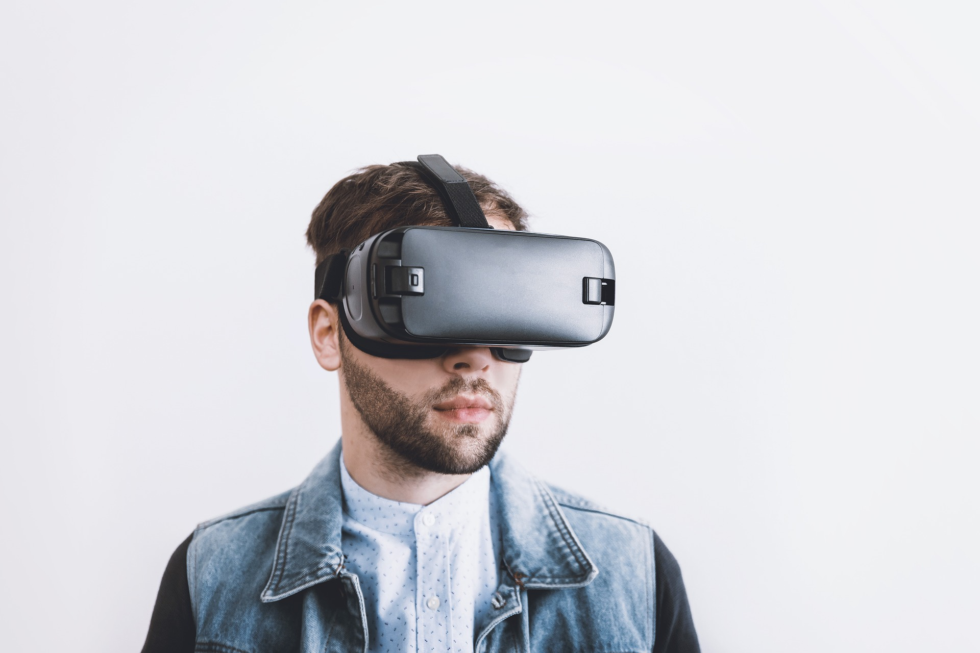 Man in Virtual Reality Goggles