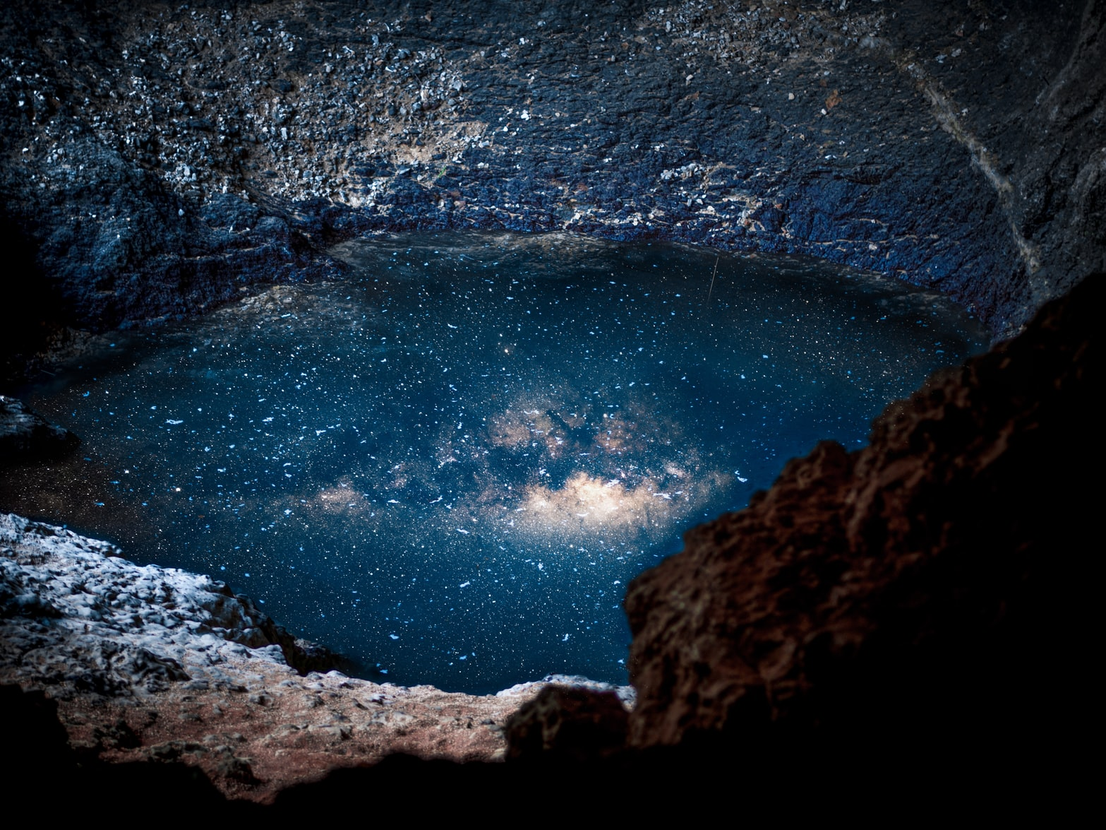 The Cosmos in a hole in the planet